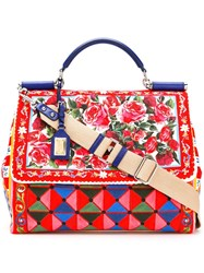 Dolce And Gabbana Large Sciliy Mambo Print Tote
