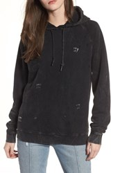 Obey 'S Arlo Distressed Safety Pin Hoodie Black