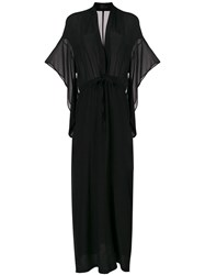 Lost And Found Ria Dunn Plunge Wrap Dress Black