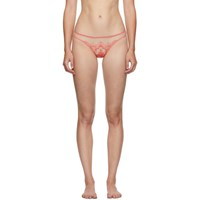 I.D. Sarrieri Pink Embroidered Tulle Brazilian Briefs