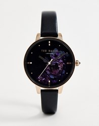 Ted Baker Kate Floral Leather Watch Black