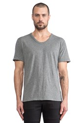 Alexander Wang Classic Low Neck Tee Gray