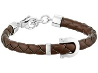 Salvatore Ferragamo Braided Gancio Bracelet Brown