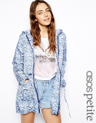 Asos Petite Rain Pac A Parka In Ditsy Floral Ditsyfloral