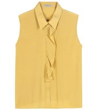 Bottega Veneta Silk Crepe De Chine Blouse Yellow