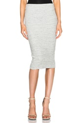 James Perse Heavy Rip Skinny Skirt In Gray