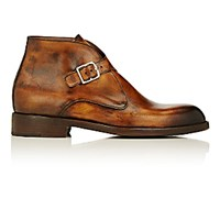Esquivel Men's Monk Strap Chukka Boots Brown