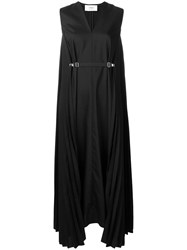 Ports 1961 Sleeveless Pleated Dress Black