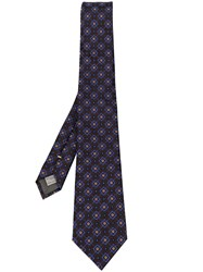 Canali Embroidered Tie Black