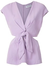 Olympiah Magnolia Front Knot Blouse 60