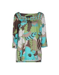 Clips Topwear T Shirts Women Turquoise