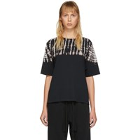 Raquel Allegra Black Football T Shirt