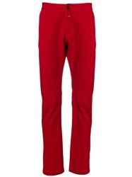 Closed Straight Leg Trousers Red