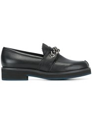 Jil Sander Navy Chain Detail Loafers Black