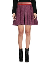 Maison Scotch Mini Skirts Garnet