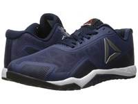 Reebok Ros Workout Tr 2.0 Blue Ink Collegiate Navy Pewter White Black Hero Yellow Men's Cross Training Shoes