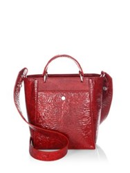 Elizabeth And James Eloise Petit Leather Tote Ruby