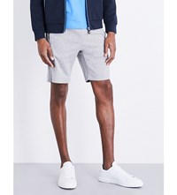 Hugo Boss Piped Detail Cotton Jersey Shorts Light Pastel Grey