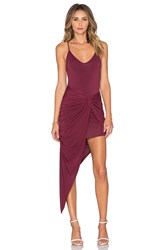 Krisa Knotted Cami Maxi Dress Burgundy
