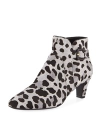 Cole Haan Sylvia Grand Waterproof Animal Print Booties Mercer Ocelot