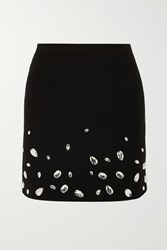 Christopher Kane Crystal Embellished Cady Mini Skirt Black