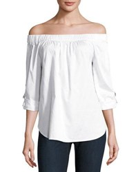 Michael Michael Kors Off The Shoulder D Ring Top White