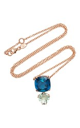 Alasia Anemoni Topaz And Green Garnet Necklace Blue