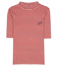 81 Hours Elfie Love Striped Shirt Red