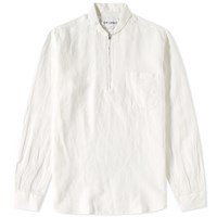 Our Legacy Everyman Shawl Zip Shirt White