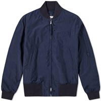 Engineered Garments Nylon Aviator Taffeta Jacket Blue
