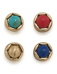 Lauren Ralph Lauren Semi Precious Stud Earrings Gold