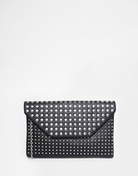 New Look Studded Envelope Clutch Black
