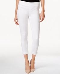 Style And Co. Petite Cuffed Capri Jeans Bright White Wash Only At Macy's