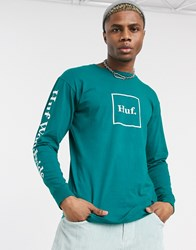 Huf Domestic Long Sleeve T Shirt In Green
