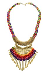 Panacea Fan Collar Necklace Multi