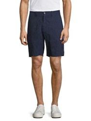 Vilebrequin Basic Pinstriped Shorts Navy White Stripe