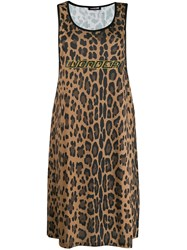 Roberto Cavalli Wonder Leopard Print Dress Neutrals