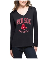 47 Brand '47 Women's Boston Red Sox Splitter Arch Long Sleeve T Shirt Navy
