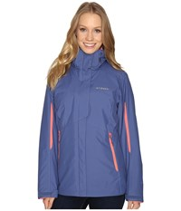 Columbia Bugaboo Interchange Jacket Bluebell Hot Coral Women's Coat