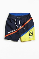 Nautica Uo Logo Colorblocked Swim Short Blue Multi