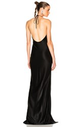 Thierry Mugler Luxury Jersey Gown In Black