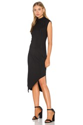 Heather Rib Mock Neck Dress Black