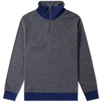 Beams Plus Half Zip Sweat Grey