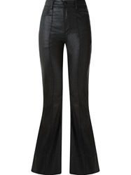 Amapa High Waisted Flared Trousers Black
