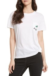 Rebecca Minkoff Women's Melia Shady Pocket Tee White