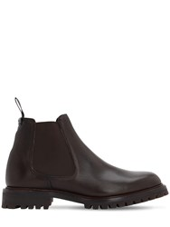 Church's Cornwood Grained Leather Chelsea Boots Brown