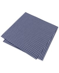 Tommy Hilfiger Men's Mini Gingham Pocket Square Navy