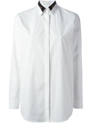 Givenchy Contrast Collar Shirt White