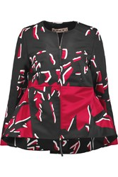 Marni Printed Satin Jacket Red