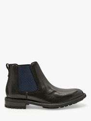 Ted Baker Warkrr Leather Chelsea Boots Black